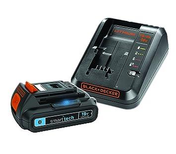 Black & Decker BL1518STC-FR Kit Batterie Connectée Smart-tech 18 V 1,