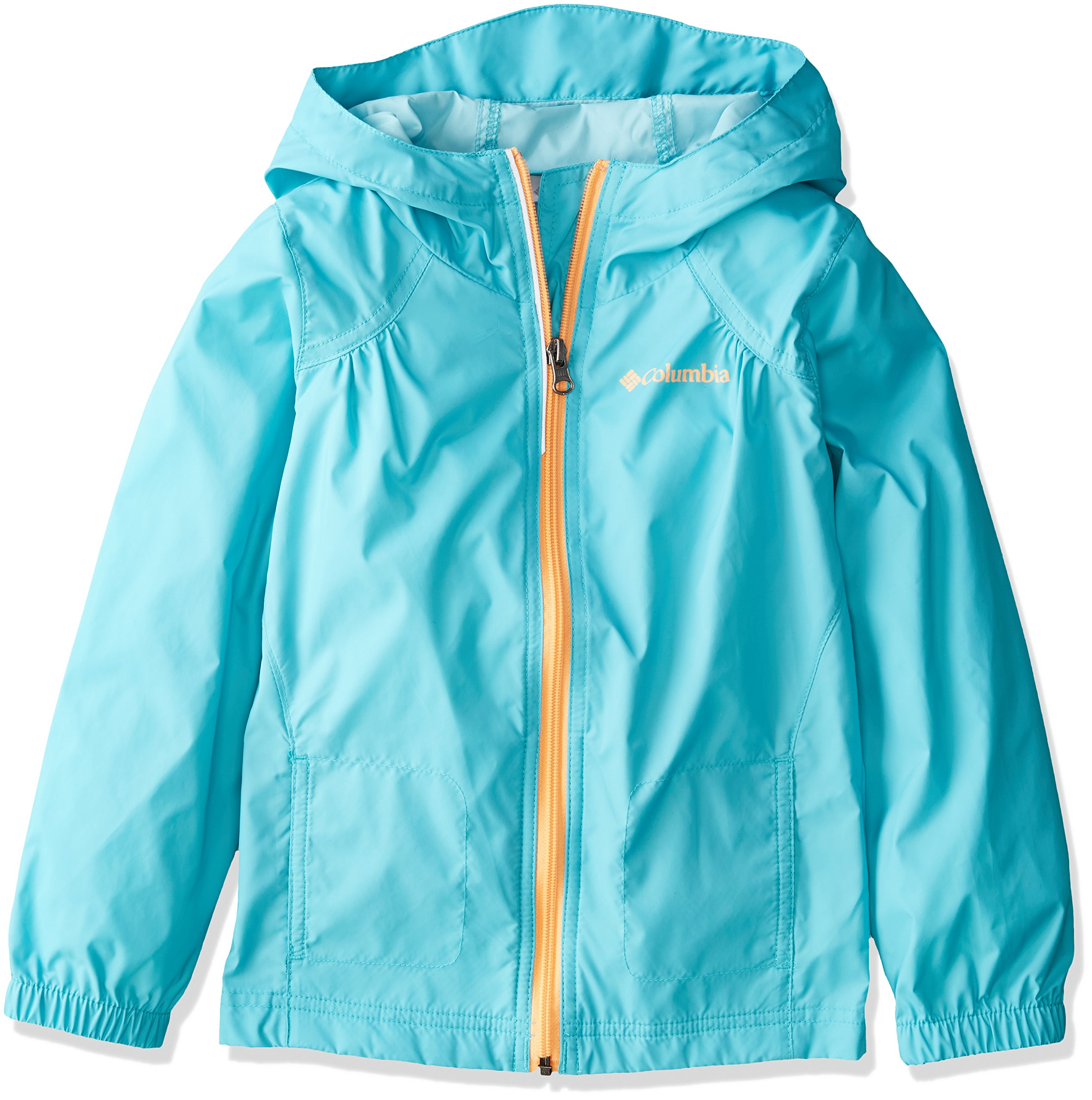 Columbia Big Girl's Switchback Rain Jacket, Geyser, L