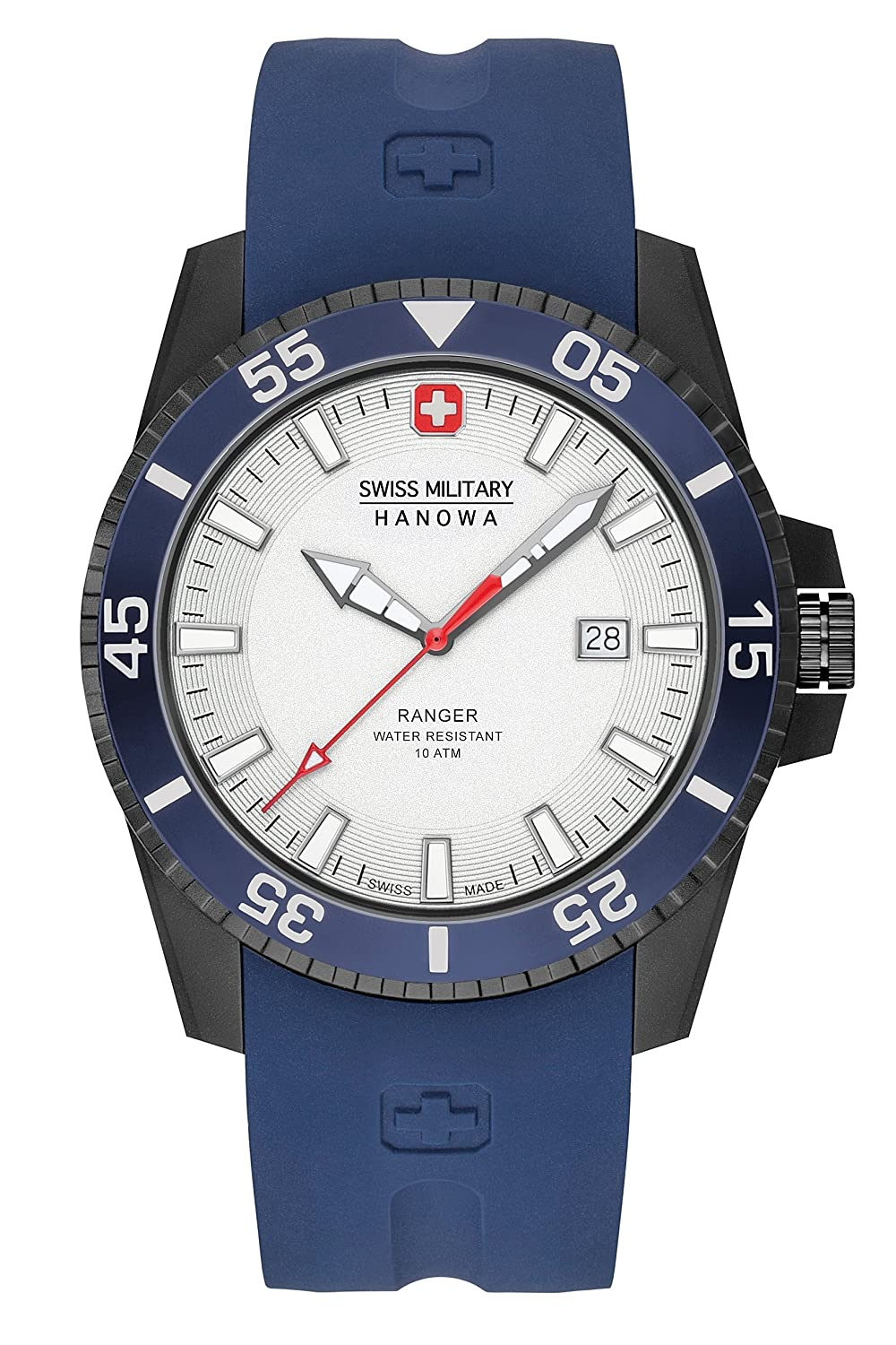 Amazon.com: Swiss Military 6-4253-27-001-03 Mens Ranger White Blue Watch: Watches