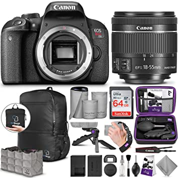 Buy Canon Eos Rebel T7i Dslr Camera With 18 55mm Lens W
