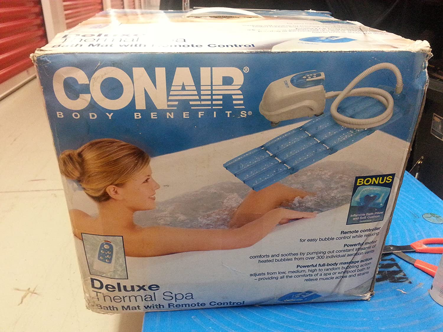 Amazon.com: Conair Body Benefits Deluxe Therma Spa Bath Mat: Home ...