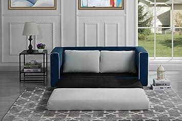 Divano In Memory Foam.Amazon Com Divano Roma Furniture Modern Sofas Navy Beige Furniture Decor