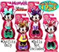 "Fisher-Price Disney Junior Minnie Mouse Snap-On Fashions ""Dance"", ""Bedtime"", ""Summer"" & ""Winter"" Complete Gift Set Bundle - 4 Pack"