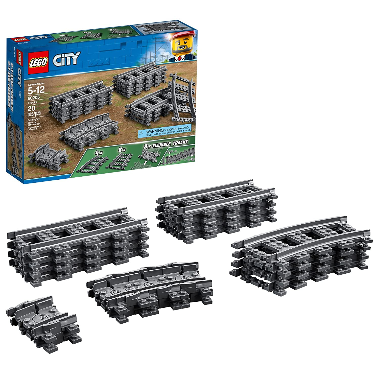 LEGO City Tracks 60205 Building Kit (20 Piece) 6230584