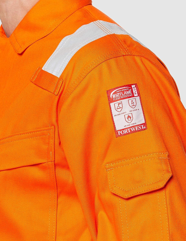 Arancione Portwest FR28 Tuta Intera Ignifuga Antistatica Leggera 280G Taglia 4XL
