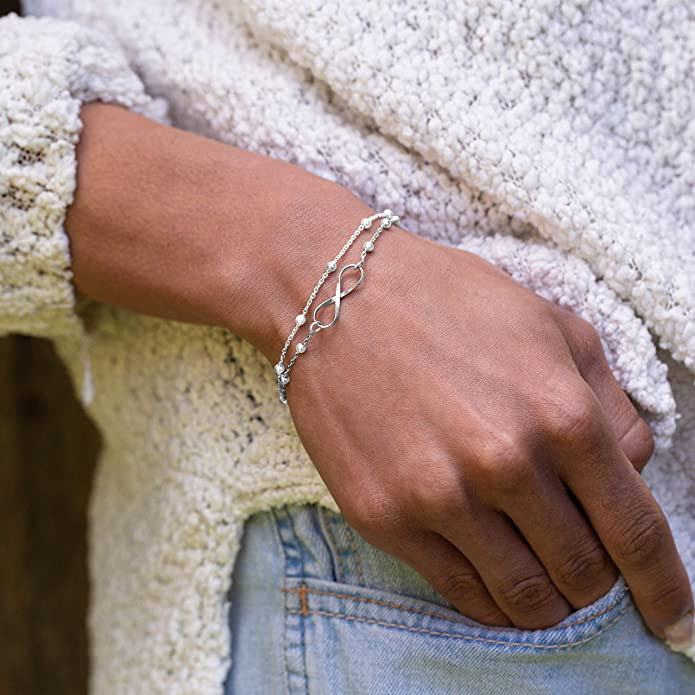 Subalian Bracelet Argent Femme 925 Bijoux Fait En Italie Avec Boite Cadeau// Idee Cadeau Femme Original Fete Des Meres Anniversaire Bracelets Extensible de 17-20cm avec Le Symbole Arbre De Vie