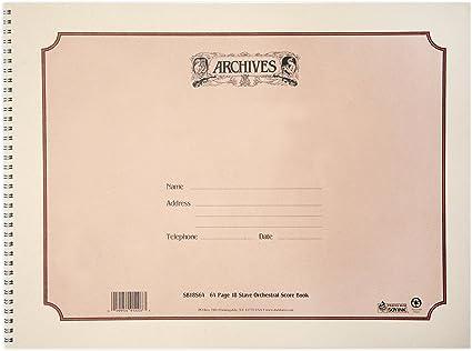 DAddario Bowed Feuilles doubles de papier manuscrit Archives 24 feuilles 12 port/ées