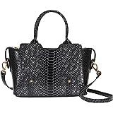 Hynes Victory Crocodile Pattern Top Handle Handbags