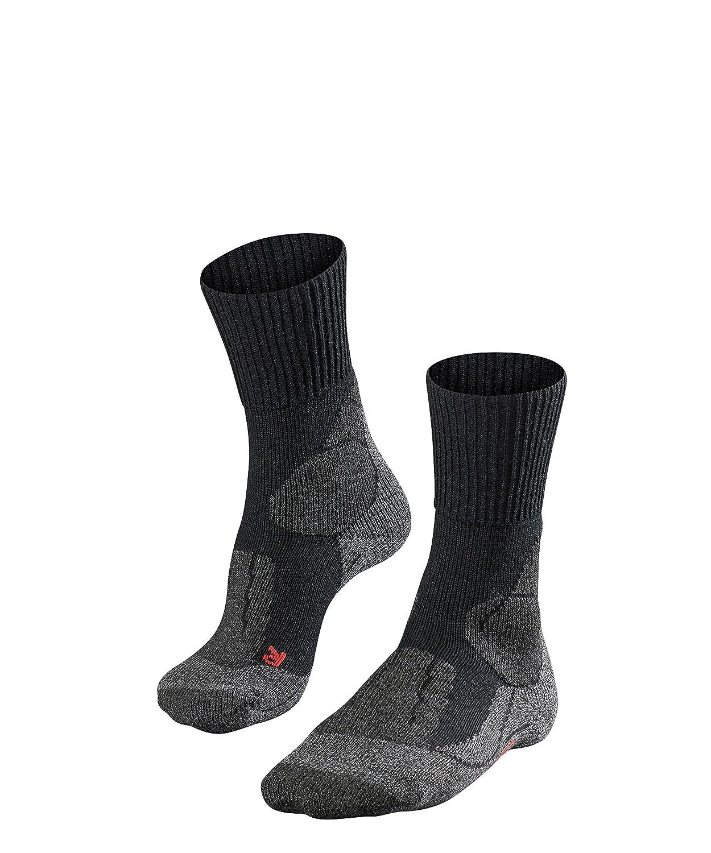 FALKE TK 1 - Calcetines de senderismo para hombre, tamaño 44-45, color asfalto: Amazon.es: Deportes y aire libre