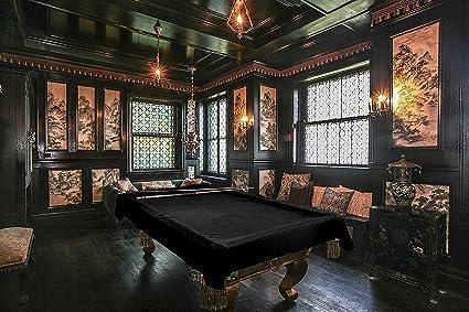 Amazon Com 9 Foot Custom Cloth Pool Table Billiard Cover Black