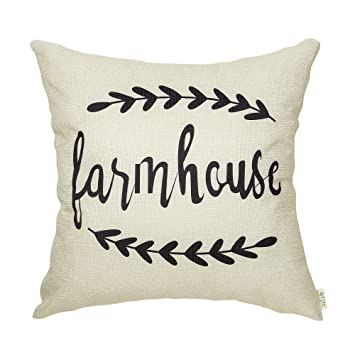 Amazon.com: Fjfz - Funda de cojín de lino y algodón para ...