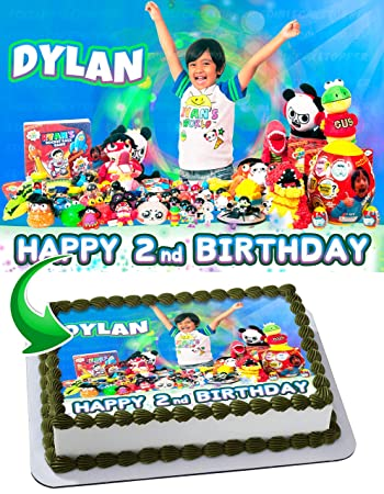 Edible Cake Image Topper Personalized Birthday 1 4 Sheet Custom Party Sugar Frosting