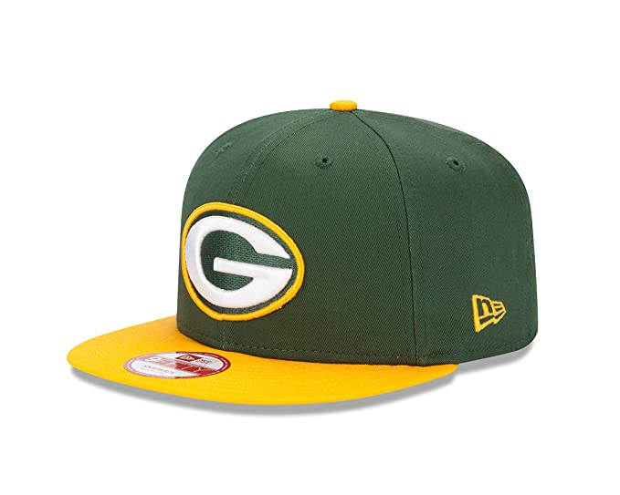 100% authentic 20768 cacbc Amazon.com   New Era Green Bay Packers 9FIFTY Baycik Snapback Cap   Sports  Fan Baseball Caps   Clothing
