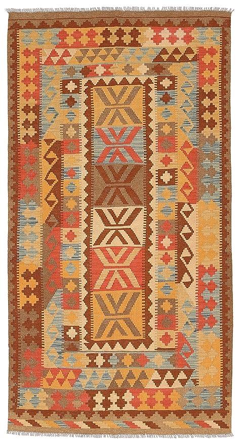 Carpetvista Kelim Afghan Old Style Teppich 100x200 Orientalischer