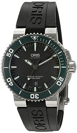 Oris hombre 73376534137rs pantalla analógica Swiss - Reloj automático negro: Oris: Amazon.es: Relojes