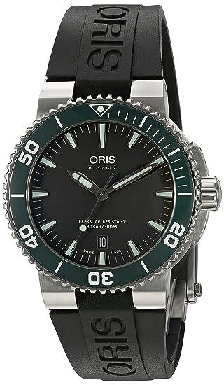 Oris hombre 73376534137rs pantalla analógica Swiss – Reloj automático negro