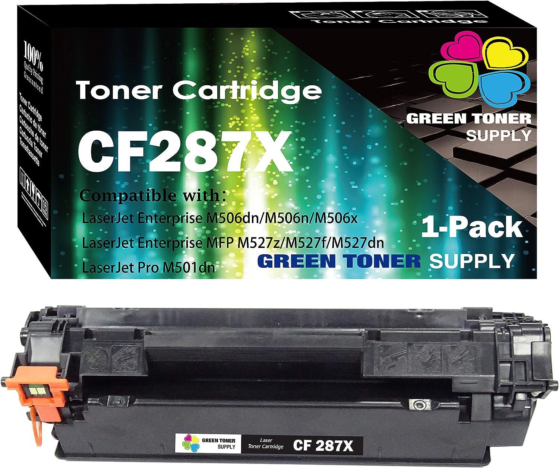 (1-Pack) Compatible 87X CF287X Toner Cartridge 287X Used for HP Laserjet Enterprise M506 M506n M506x M506dn MFP M527 Series m527c HP Laserjet Pro M501n M501dn Printer, by GTS