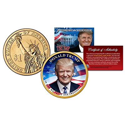 DONALD TRUMP 45th President Official Colorized 2016 Presidential Dollar $1 Coin: Everything Else