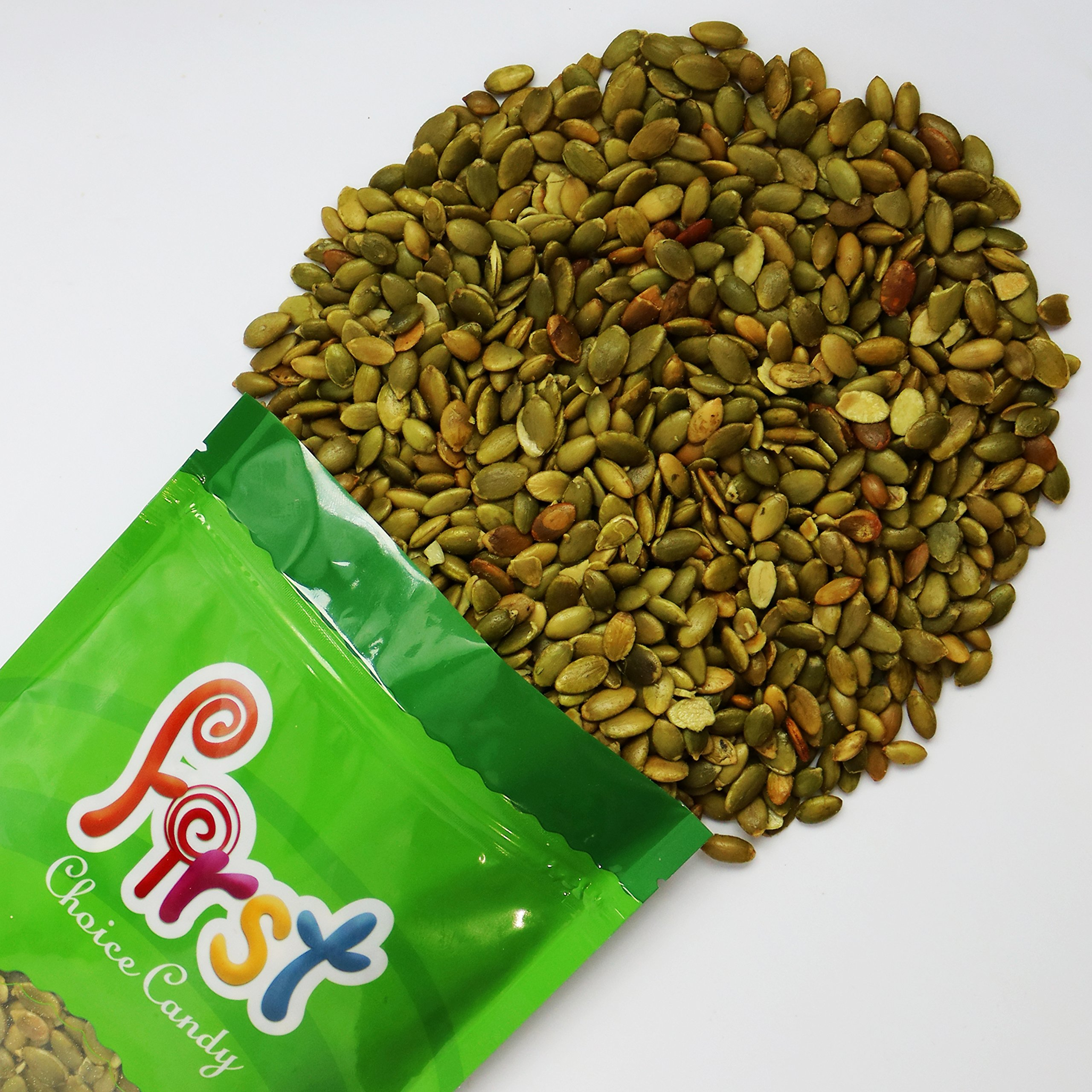 Pumpkin Seeds Pepitas Roasted/Salted 1.5 Pound In a FirstChoiceCandy Resealable Bag by FirstChoiceCandy