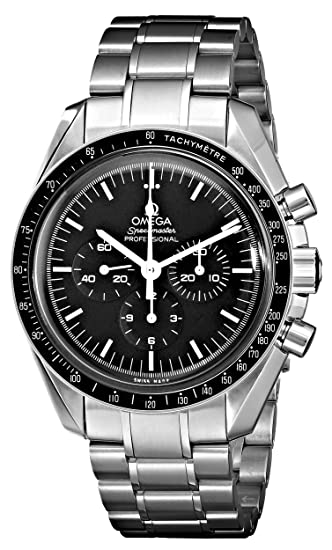 Amazon Omega Mens 35705000 Speedmaster Professional Watch With Stainless Steel Bracelet Watches