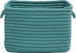 """product image for Colonial Mills Modern Farmhouse Home Basket, 12""""x8""""x10"""", Blue Lagoon"""