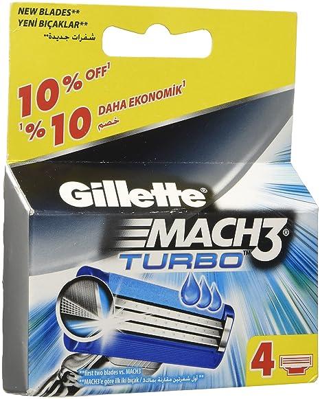 Recambio gillette - Mach3 turbo 4u