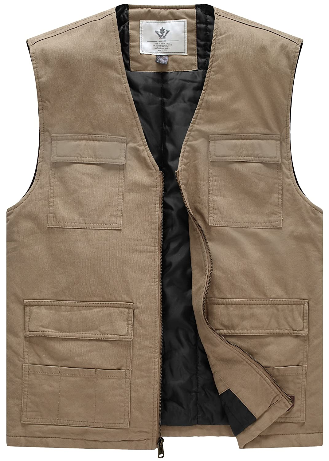 WenVen Mens Casual Quilted Padded Vest