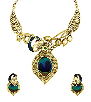 crystal teal large set garden products necklace beautiful