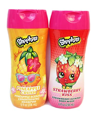 Children Shopkins Strawberry Kiss  Strawberry Scented Body Wash U0026 Shopkins  Pineapple Crush  Pineapple Scented