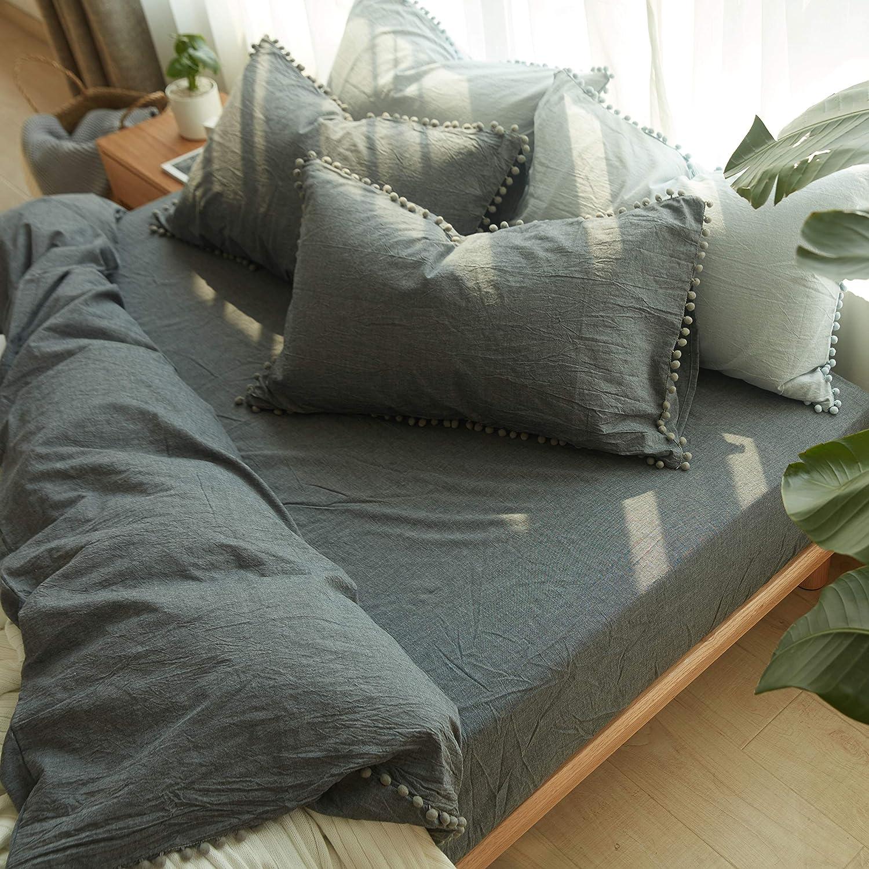 NO Comforter NO Filling Softta 20x30 Pom Pom Pillow Shams Pillow ...