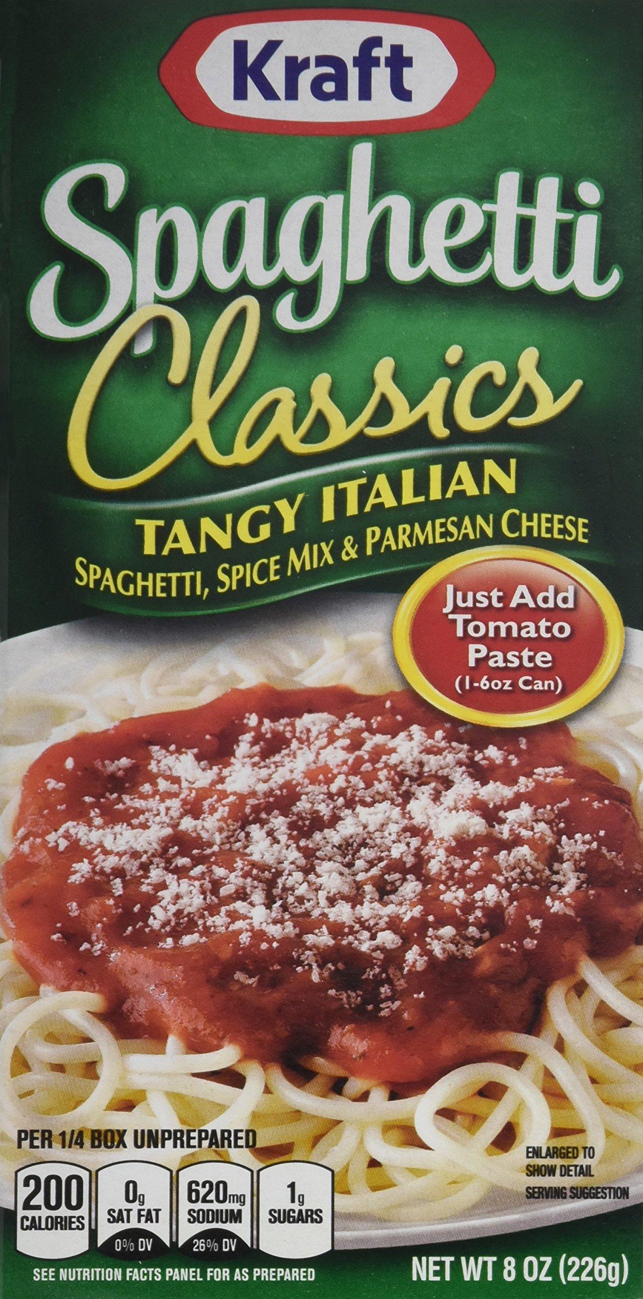 Kraft Foods Classics Tangy Italian Spaghetti, 8.0 Ounce (Pack of 12)