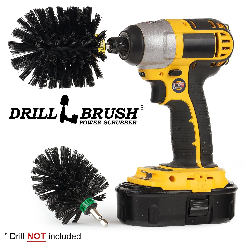 Drillbrush グリルブラシ/グリルクリーナー/バーベキューグリルアクセサリー/グリルスクレーパー/ワイヤーブラシアタッチメントオルタナティブ/オーブンクリーナー/バーベキューツール/錆除去/ルースペイント/落書き除去石、コンクリートラック ウルトラスティッフブラック  ウルトラスティッフブラック B07F2Z5KT5