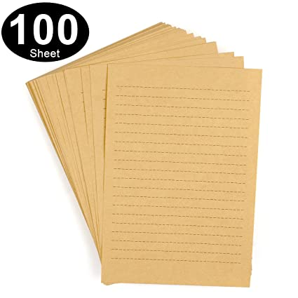 picture about Lined Stationery Printable named CenterZ 100 Sheets Typical Kraft Stationery Paper - 7.1 x 9.8, B5 Measurement 120gsm Printable Coated Stationary Producing Letter Papers The vast majority Established for