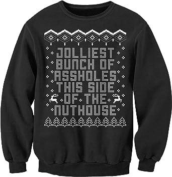 jolliest bunch of assholes funny christmas sweater sweatshirt blacksm