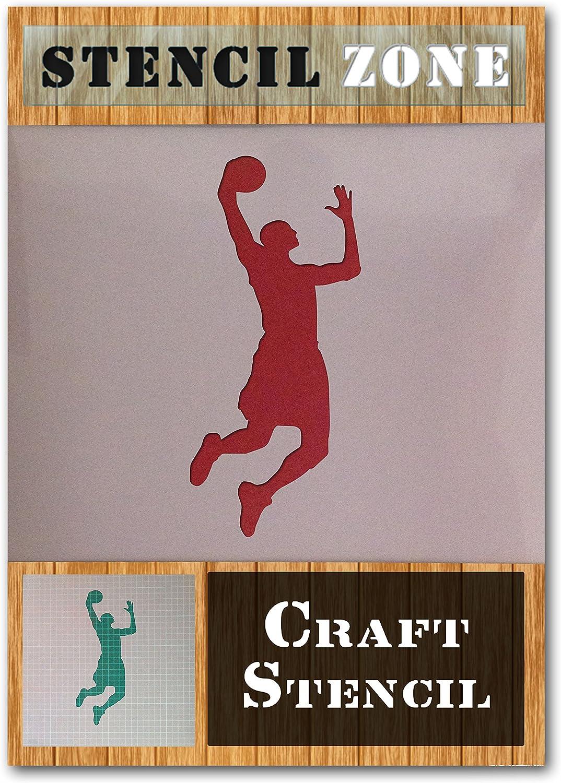 A4 Taille Pochoir - Petit Basket-ball NBA Sport Joueur Mylar Airbrush Peinture murale Art Artisanat Pochoir 1