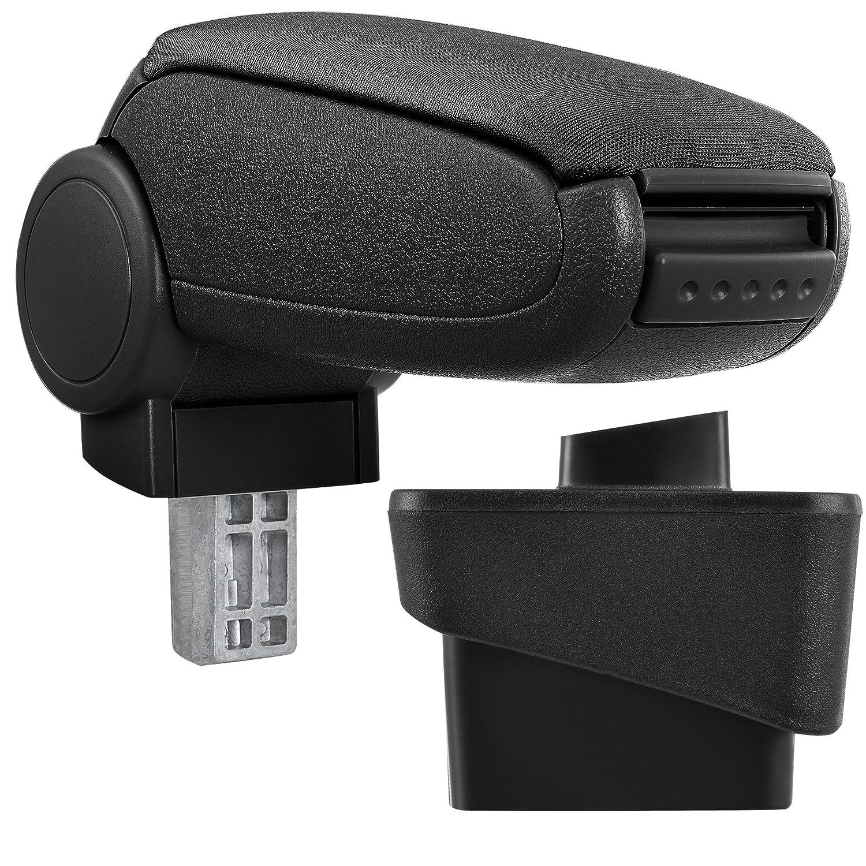 [pro.tec] Car Armrest Perfekt Fit - Centre Console + inkl. Storage Box - imitation leather cover / black