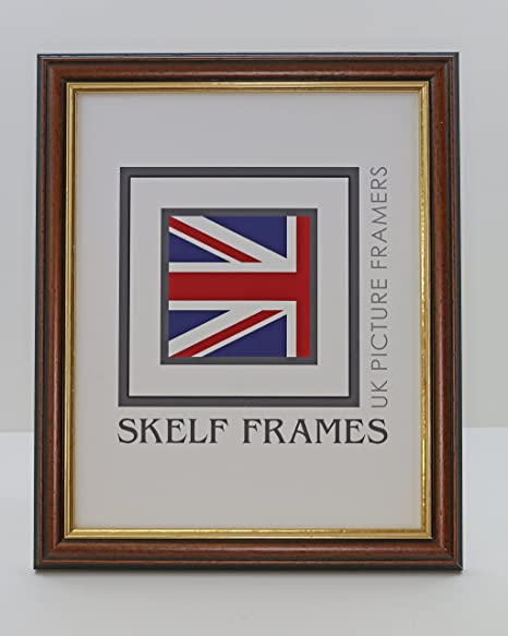 A3 DARK WOOD WITH GOLD INLAY PICTURE PHOTO FRAME A1 A4 SKELF FRAMES A2