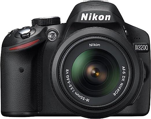 Amazon.com : Nikon D3200 24.2 MP CMOS Digital SLR with 18-55mm f/3.5-5.6 Auto Focus-S DX VR NIKKOR Zoom Lens (Black) (OLD MODEL) : Slr Digital Cameras : Camera & Photo