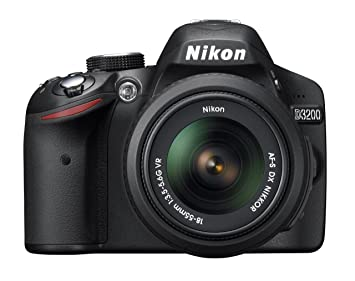 Nikon D3200 24 2 MP CMOS Digital SLR with 18-55mm f/3 5-5 6 Auto Focus-S DX  VR NIKKOR Zoom Lens (Black) (OLD MODEL)