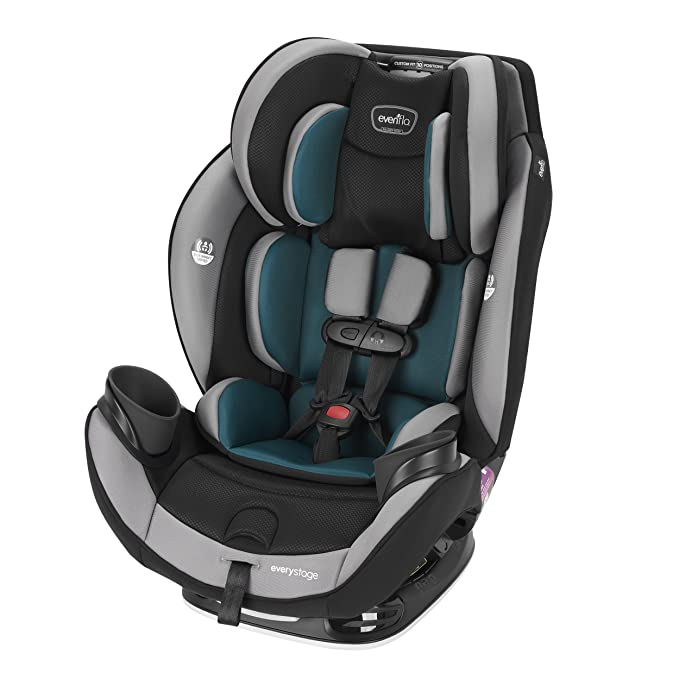 Evenflo EveryStage DLX All-in-One - The Most Affordable High-Quality All Stages Convertible Car Seat