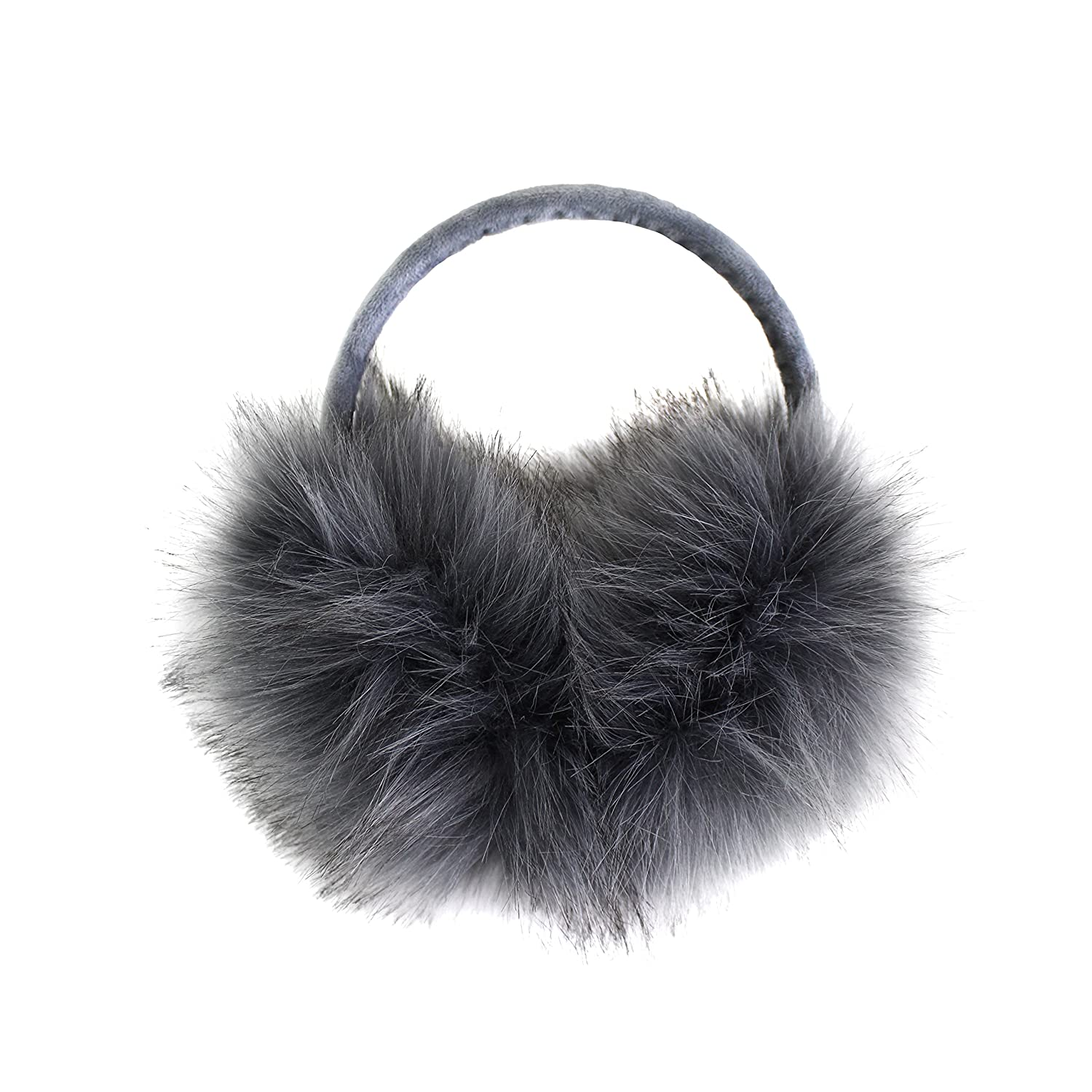 Luxurious Faux Fur Winter Chic Earmuffs- Adjustable Large Oversized Soft Furry Ear Warmers
