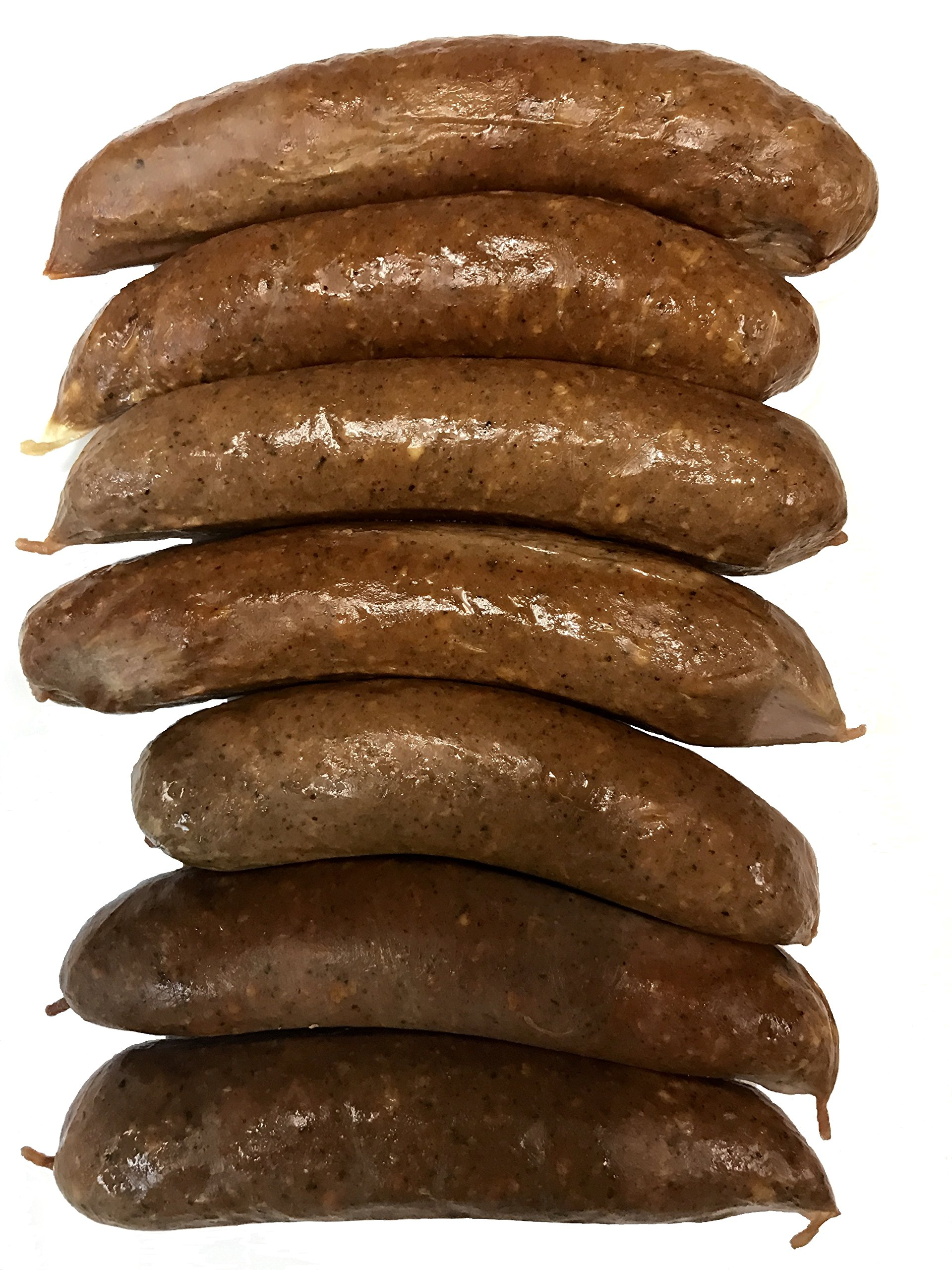 Wild Boar Gourmet Smoked Sausages (Cooked) 8 Qty 4 Oz. Links, 1/2 lbs Package