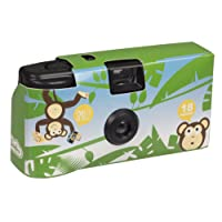 My Doodles Fun Novelty Children's Character Design Portable Disposable Camera with 18 Exposures - Monkey