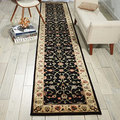 Nourison Persian Arts Black Rectangle Area Rug, 9-Feet 6-Inches by 13-Feet 9 6 x 13