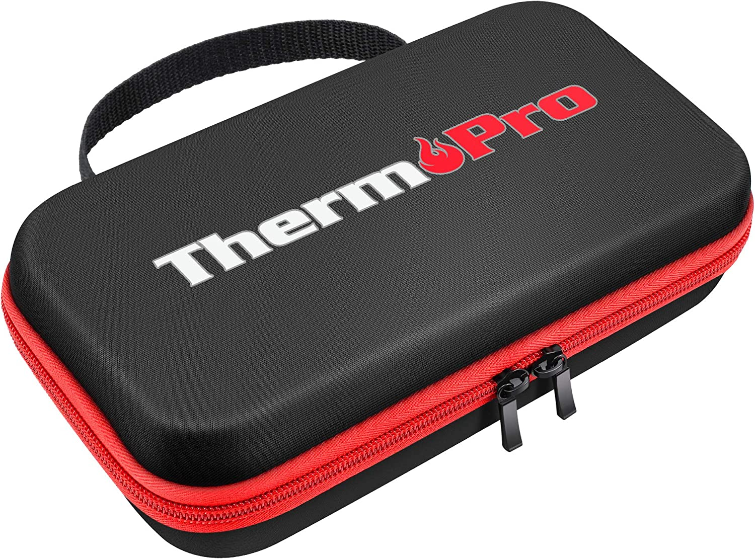 ThermoPro TP98 Hard Carrying Case Storage Bag for TP-16, TP-16S, TP-17,TP-17H Digital Cooking Food Meat Thermometer, Shockproof Waterproof Black Travel Protective Case/Box/Organizer