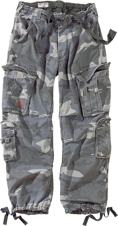 Surplus Airborne Vintage Mens Cargo Trousers Night Camo