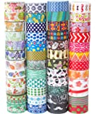 Washi Tape Set of 48 Rolls,Decorative Washi Masking Tape Set for DIY Crafts and Gift Wrapping