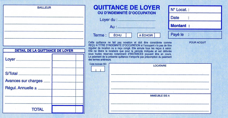 ELVE 18594 Manifold 105x210mm 50 Feuillets Tripli Quittances Loyer