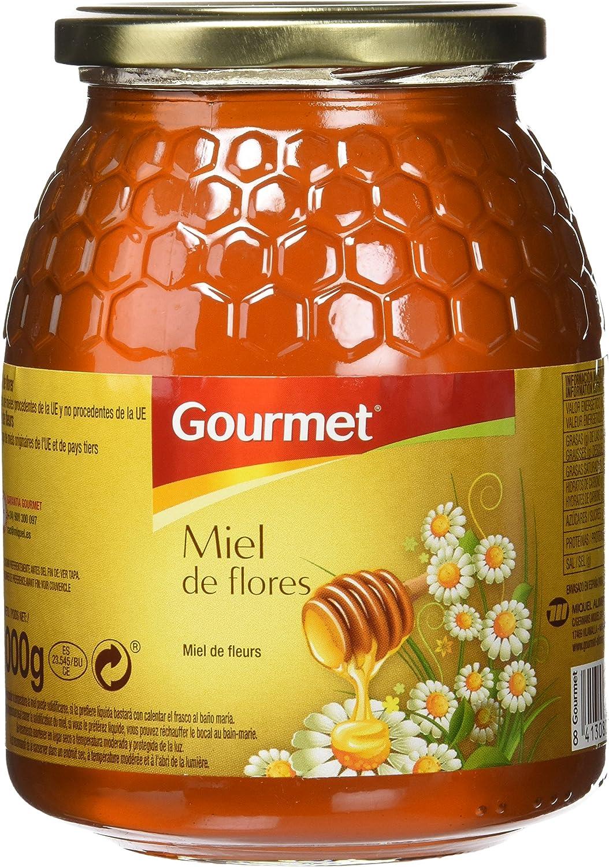 Gourmet - Miel de flores - 1 kg - [Pack de 6]: Amazon.es: Alimentación y bebidas