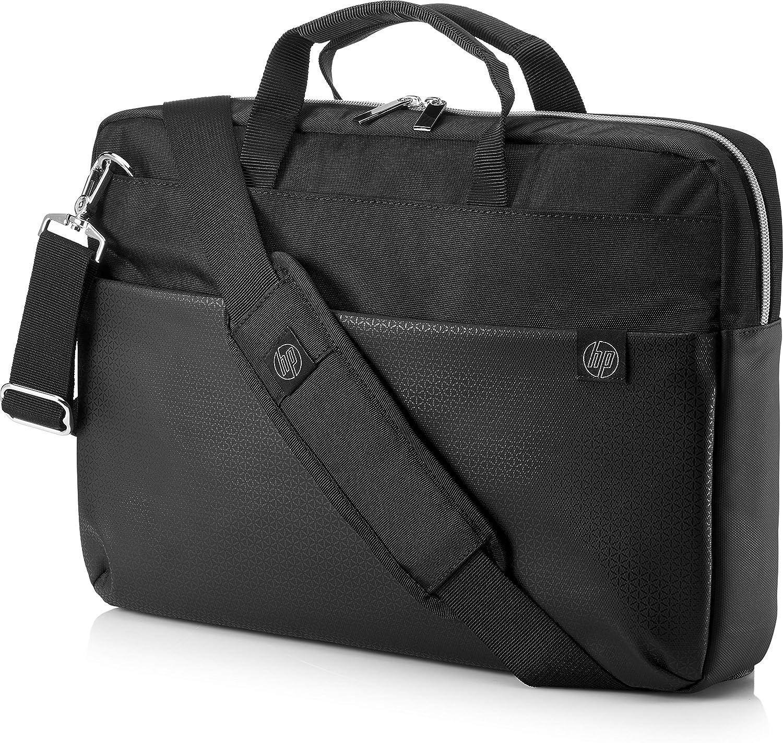 HP Duotone 15.6 Inch 39.6 cm Black /& Gold TopLoad Briefcase Messenger Bag  for Laptop//Chromebook//Mac